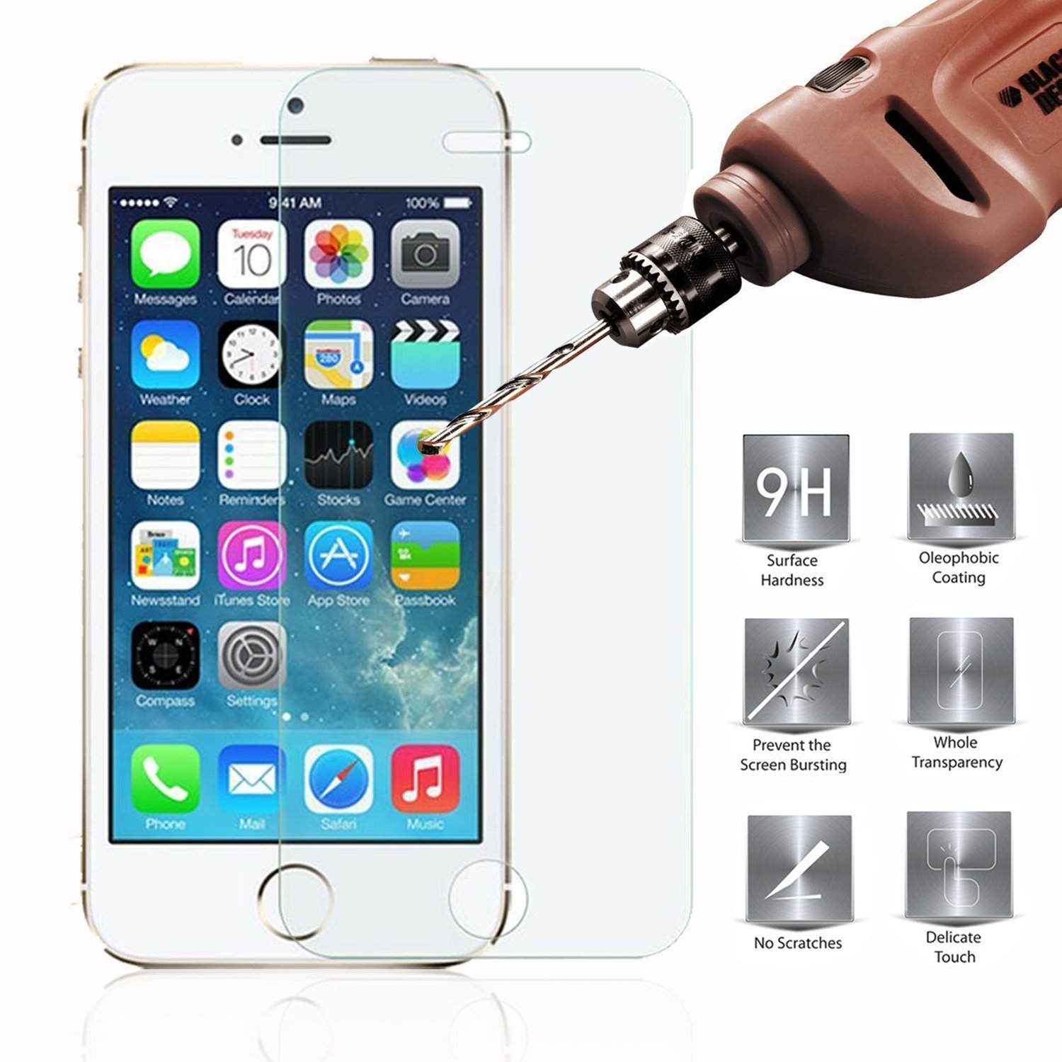 iphone 5 screen protector apple iphone 5 5s 5c tempered glass screen protector 14585